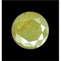 .98ct Rose Cut Natural Unheat Green Yellow Diamond (GEM-16525)