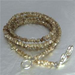 18.36ct Natural Fancy Brown Diamond Necklace Uncut (JEW-1702)