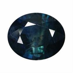 1.90ct Natural Greenish Blue Sapphire Oval Facet Africa (GEM-19547)
