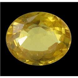 1.14ct Pleasant Natural Yellow Sapphire Thailand (GEM-22915)