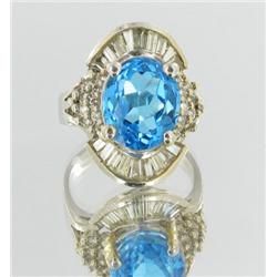7ct Ladies Colombian Emerald Diamond 14k Ring (JEW-1693)