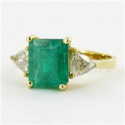 3.2ct Ladies Top Colombian Emerald Diamond 14k Ring (JEW-1137)