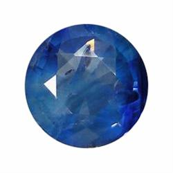 1.38ct Natural Royal Blue Ceylon Sapphire Round (GEM-19545)