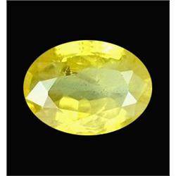 1.00ct Genuine Yellow Sapphire Oval Africa  (GEM-20977)