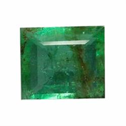 1.55ct Natural Mint Green Zambian Emerald Rectagnle (GEM-19553)