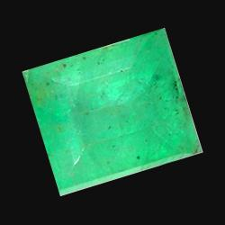 0.51ct Natural Mint Green Zambian Emerald Square (GEM-20674)