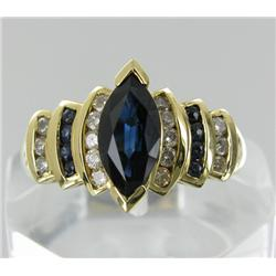 1.95ct Ceylon Blue Sapphire & Diamond 14k Gold Ladies Ring (JEW-1776)