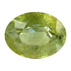 1.08ct Oval Natural Green Yellow Sapphire Thailand  (GEM-22911)