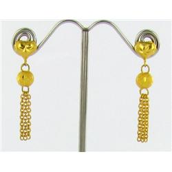 22k Gold Vermeil Earrings (JEW-1597)