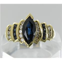 1.95ct Ceylon Blue Sapphire & Diamond 14k Gold Ladies Ring (JEW-1776)