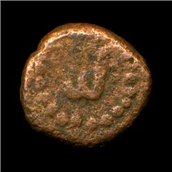 Ancient India Tanjore Nayak Copper Coin Hi Grade Type 1 (COI-5778)