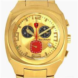 New Lamborghini Swiss Movement Chronograph Style18k/SS Watch Retail $3195 (WAT-135)