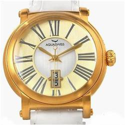 New Aquaswiss Mens Gold/SS Sport Watch Retail $2325 (WAT-130)