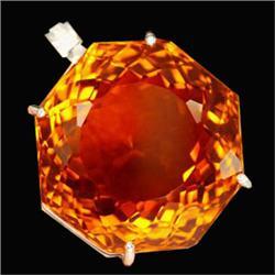 246ct Sterling Pendant Fancy Madeira Orange Citrine (JEW-1837)