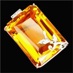 191.38ct Sterling Pendant Golden Yellow Citrine (JEW-1836)