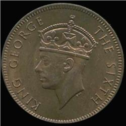 1952 Maritius George VI 2 Cent BU MS65+ (COI-6958)