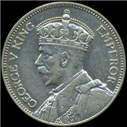 1934 New Zealand Shilling George V AU+ (COI-6983)
