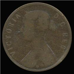 1873 Canada Newfoundland Large Cent Circulated RARE (COI-6769)