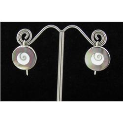 Sterling Mother of Pearl Earrings (JEW-1401)