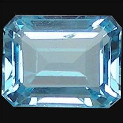 5.14ct Natural Sky Blue Octagon Topaz (GMR-1021)