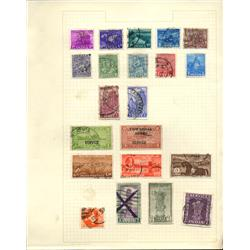 1940s/50s India Hand Made Stamp Collection Album Page 21 Pieces (STM-0240)
