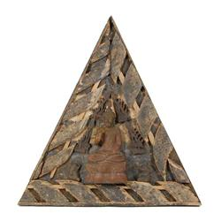 Architectural Antique Teak Temple Roof Gable (ANT-367)