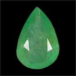 0.93ct Natural Mint Green Zambian Emerald Pear Facet (GEM-22884)
