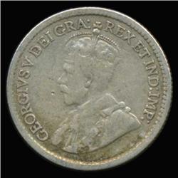 1917 Canada Newfoundland 5c Silver Hi Grade RARE (COI-6750)