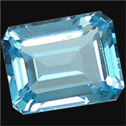 4.02ct Natural Sky Blue Octagon Topaz (GMR-1022)