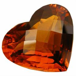 28.90ct Awesome Madeira Citrine Heart Cut (GEM-23614)