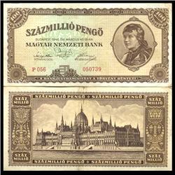1946 Hungary 100MM Pengo Note Hi Grade Scarce (CUR-06125)