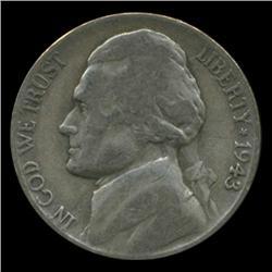 1943P/D/S Jefferson Silver WAR Nickel Set (COI-4983)