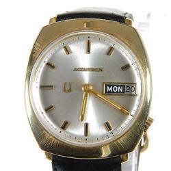 Vintage 1960s Men's 14k Gold Bulova Watch RARE (WAT-033)