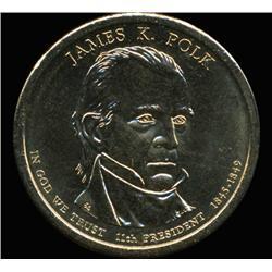 2009P Polk Dollar GEM BU Edge Rare U2 Error (COI-6259)