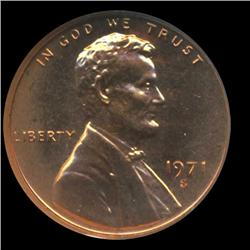 1971S Lincoln Cent Coin GEM Graded PR68 DCAM (COI-6399)
