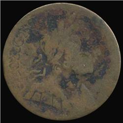 1770 Colonial Counterfeit George III Farthing RARE (COI-7066)