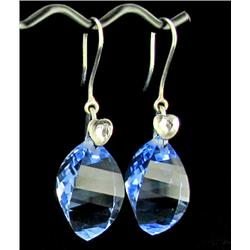 46.35ct Exquisite Earrings Briolette Sky Blue Topaz  (JEW-1583)