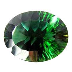 16.35ct Concave Oval Super Green Amethyst Appraisal Estimate $3270 (GEM-23000)