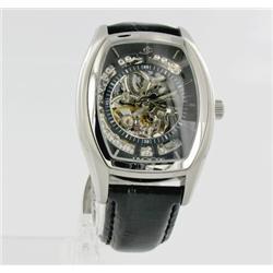 New Jacot Men's Tank Style Skeleton Watch  Retail $1995 (WAT-148)