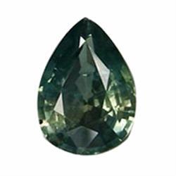 2.12ct Elegant Yellow Green Sapphire Pear (GEM-19577)