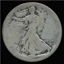 1917D Obverse Walking Liberty Half Dollar Circulated (COI-6334)