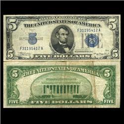 1934A $5 Silver Certificate Crisp Circulated (CUR-06042)