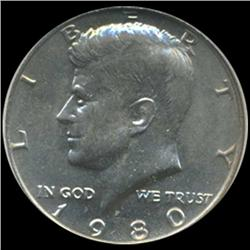 1980 Kennedy Half 50c Coin Graded GEM (COI-6911)