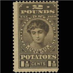 1935 US 1.5c Potato Tax Revenue Stamp NICE (STM-0545)