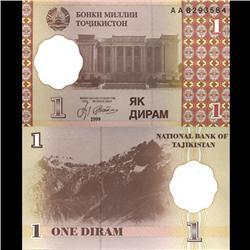 1999 Tajikistan 1 Diram Crisp Uncirculated Note (CUR-06112)