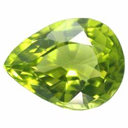 0.79ct Pear Cut Parrot Green Natural Peridot (GEM-14145C)
