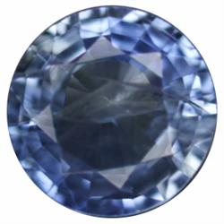 0.88ct Round Blue Kanchanaburi Sapphire  (GEM-19686)