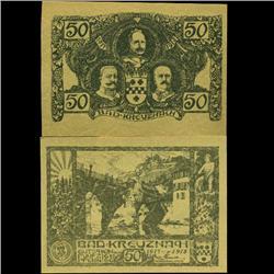 1917 Germany 50 Pfennig Note Crisp Unc (COI-3894)