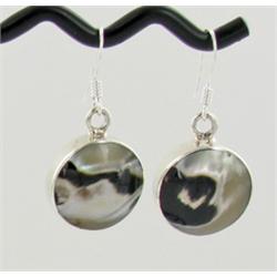 Sterling Mother of Pearl Earrings (JEW-1400)