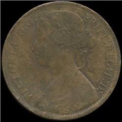 1866 Britain Victoria Penny Better Grade (COI-7045)